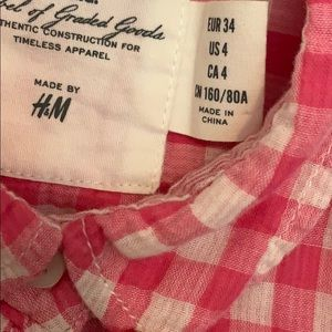 H&M Tops - H&M plaid shirt size 4 (small)